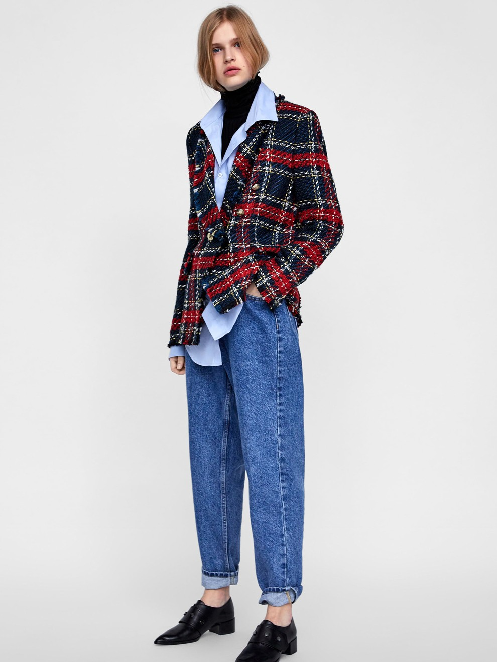 Tweed, el tejido estrella de Zara para ir a la oficina en 2019