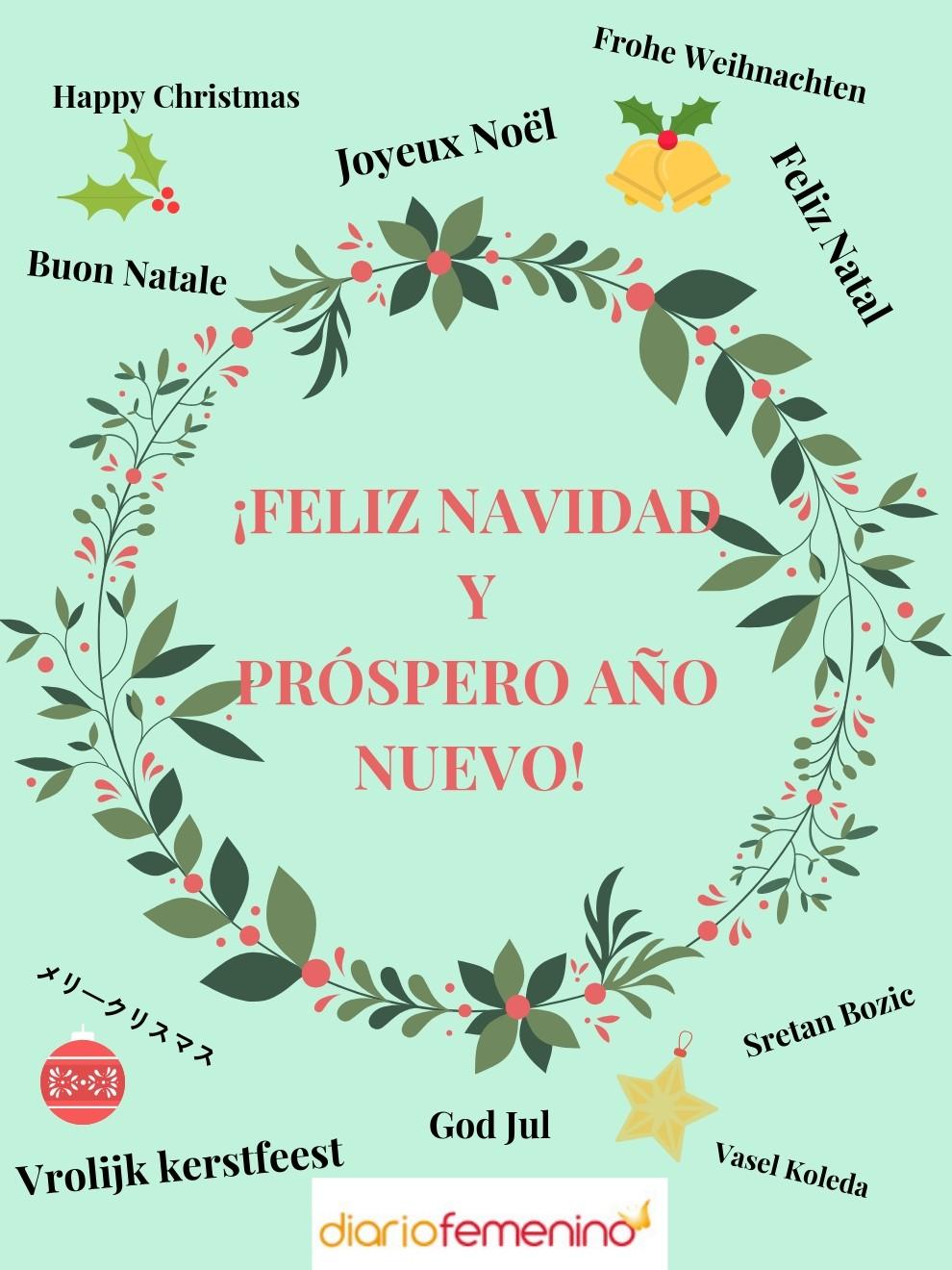 Frase para redes sociales para felicitar la Navidad en distintos idiomas