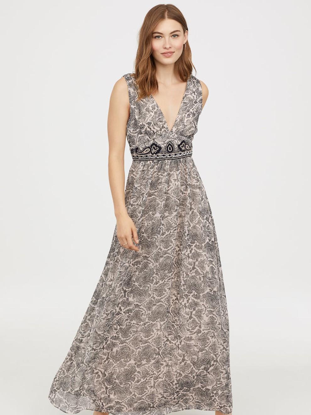 Vestido estampado perfecto para bodas de H&M por 79'99 euros