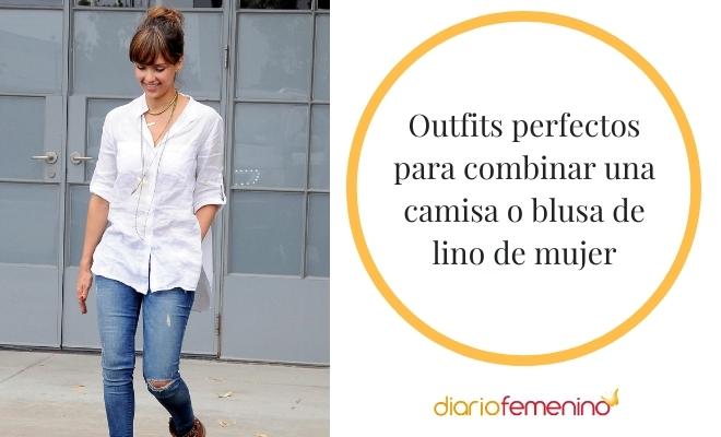 Ideas Para Combinar Una Camisa De Lino De Mujer Looks Inmejorables