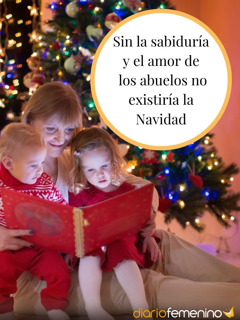 La sabiduría y el amor de los abuelos, lo mejor de la Navidad