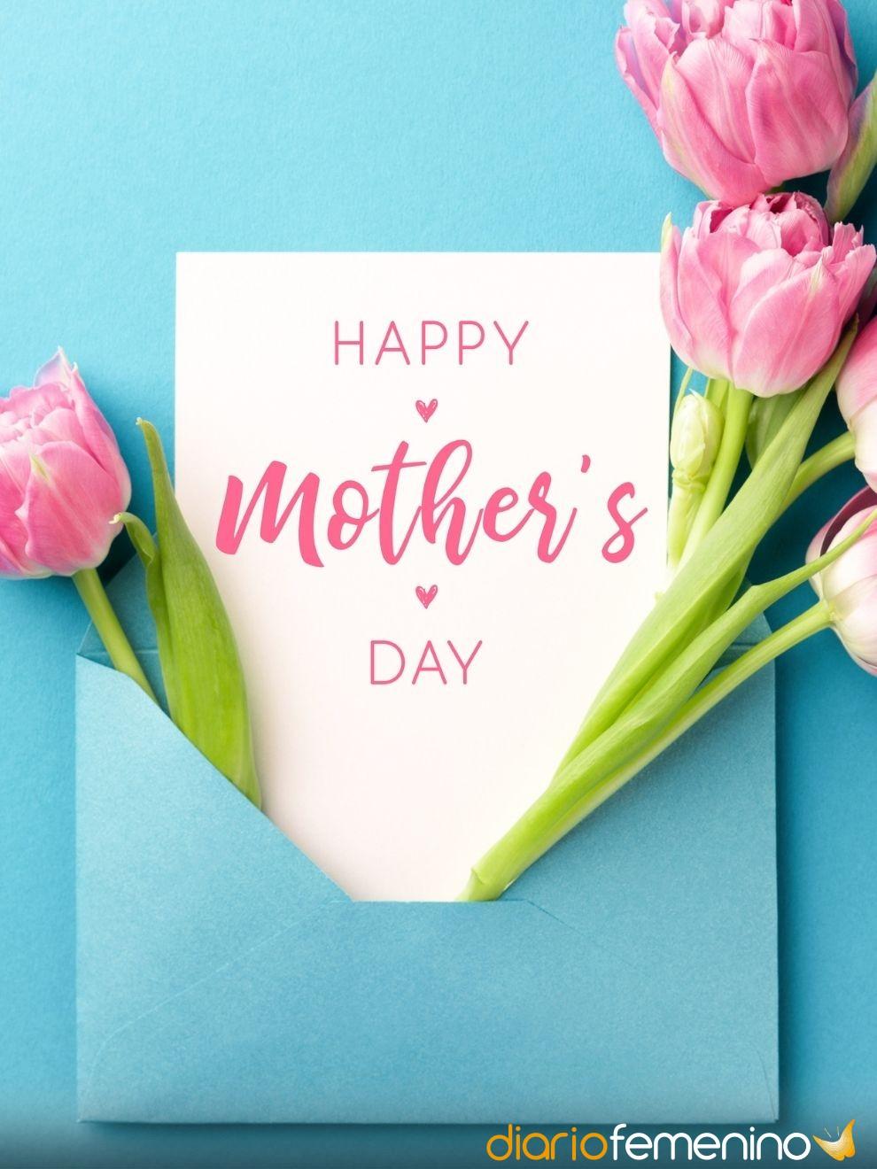 Flores y tarjetas para celebrar el Día de la Madre