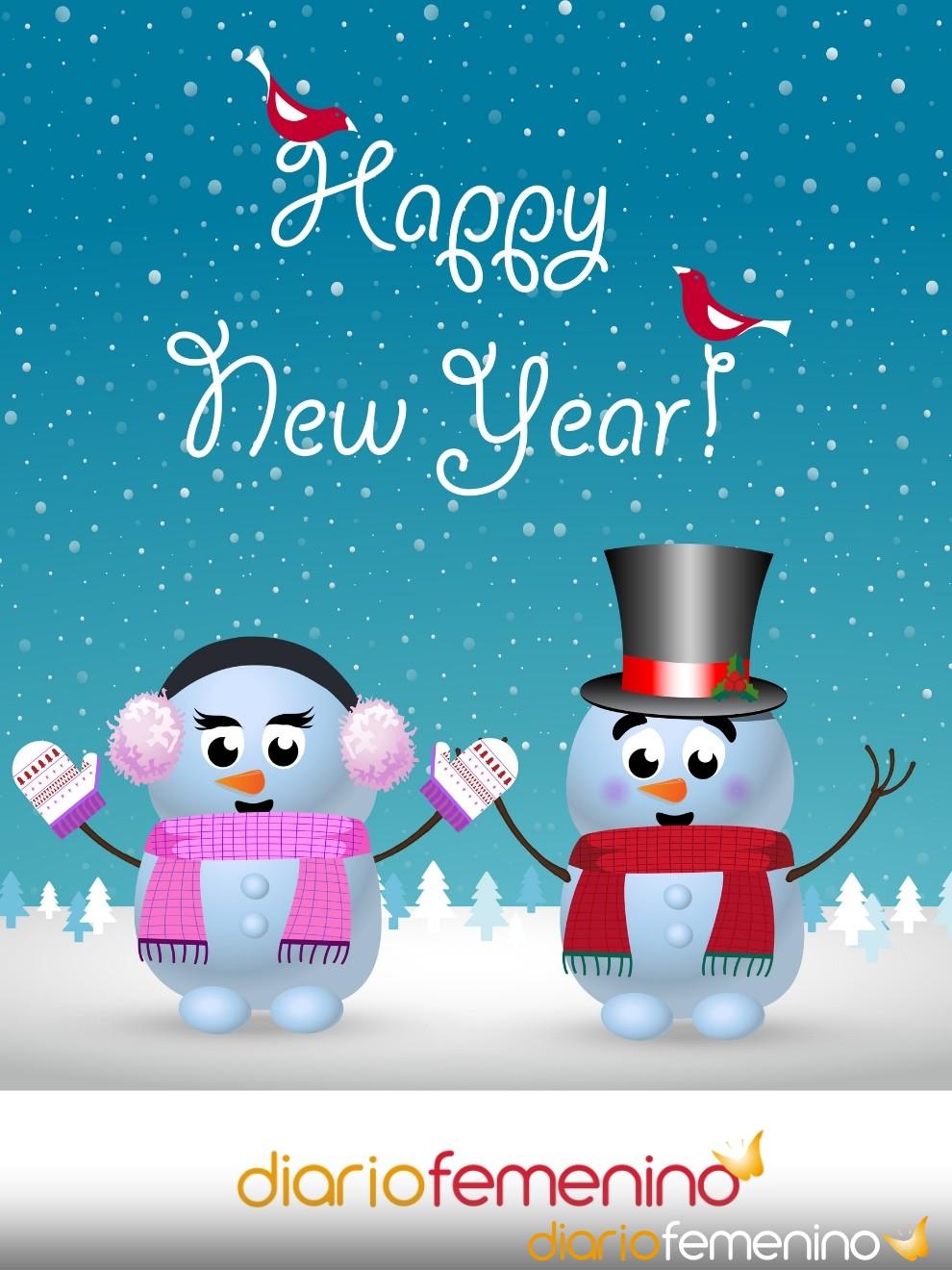 Preciosa postal navideña para felicitar el Año Nuevo a tu novio