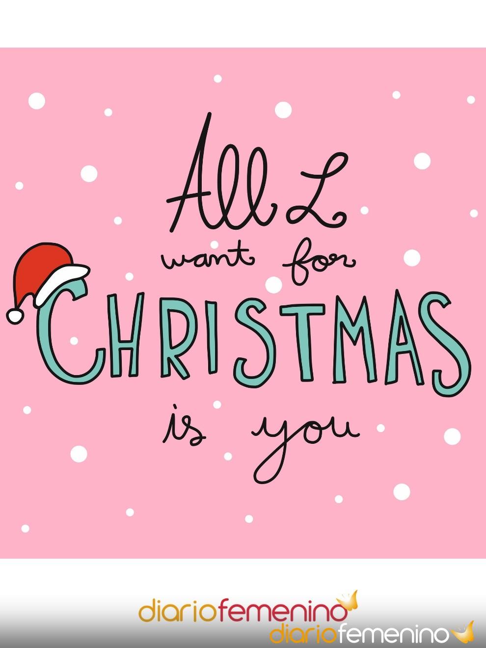 Postal navideña muy linda: todo lo que quiero para Navidad eres tú