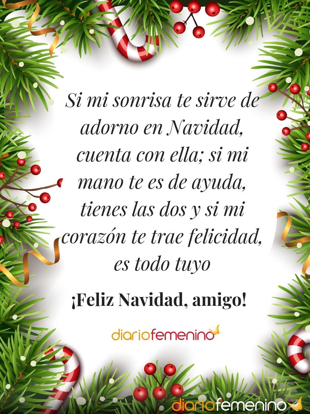 Tarjeta navideña con mensaje para enviar a tus amigos