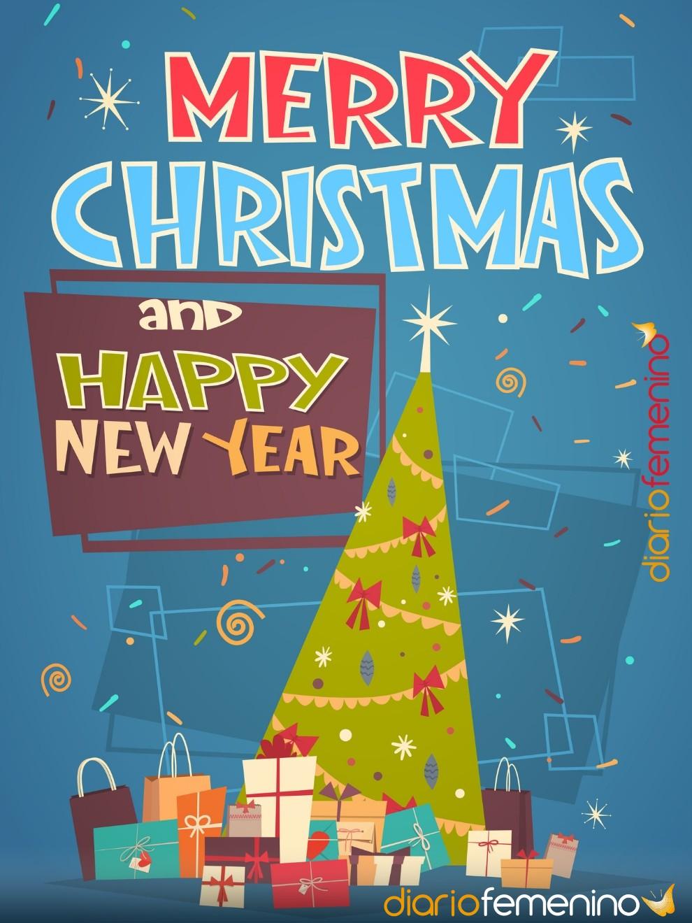 Christmas para felicitar la Navidad y el Año Nuevo en inglés a tus amigos