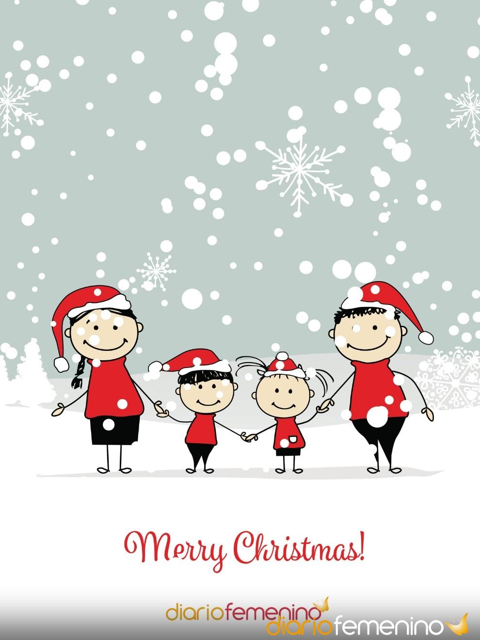 Una tarjeta navideña muy especial para tus seres más queridos