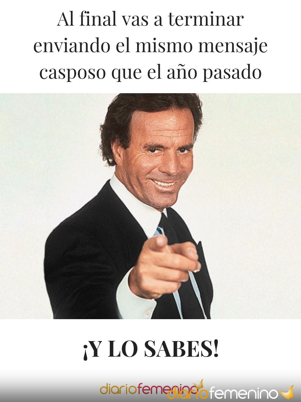 El meme más famoso de Julio Iglesias en forma de postal navideña