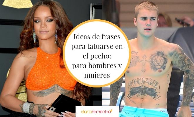 61 Frases Para Tatuarse En El Pecho Diseños Para Mujeres Y