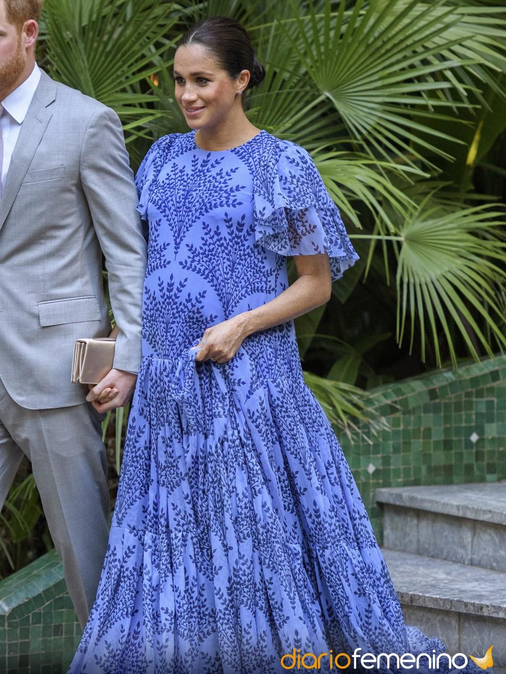El llamativo vestido azul de Meghan Markle