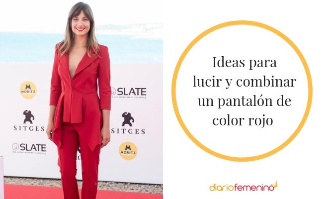 c7cd1e1e33 Cómo combinar con estilo un pantalón rojo  looks de moda