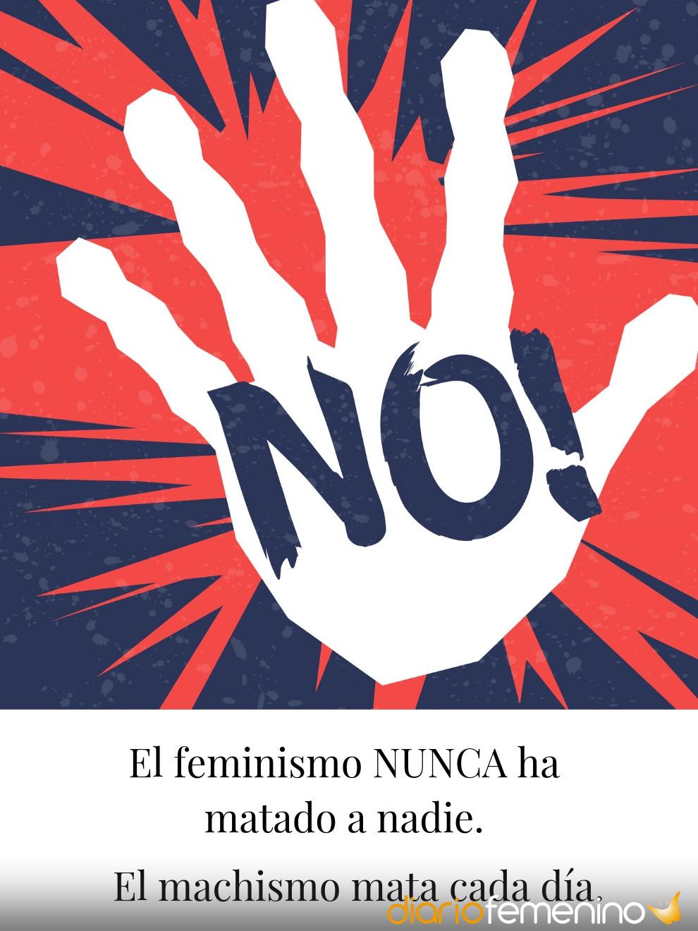 Tarjeta para luchar contra la violencia de género en el Día de la Mujer