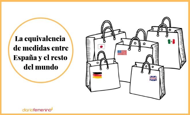 ad34ea263 Guía de equivalencias de tallas entre España y otros países del mundo