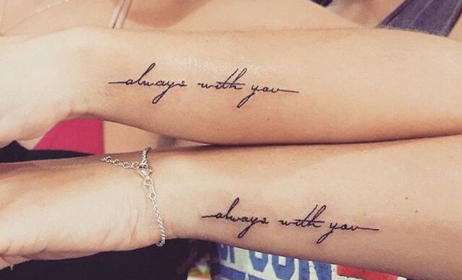 58 Frases Inspiradoras Para Tatuarte Con Tu Mejor Amiga
