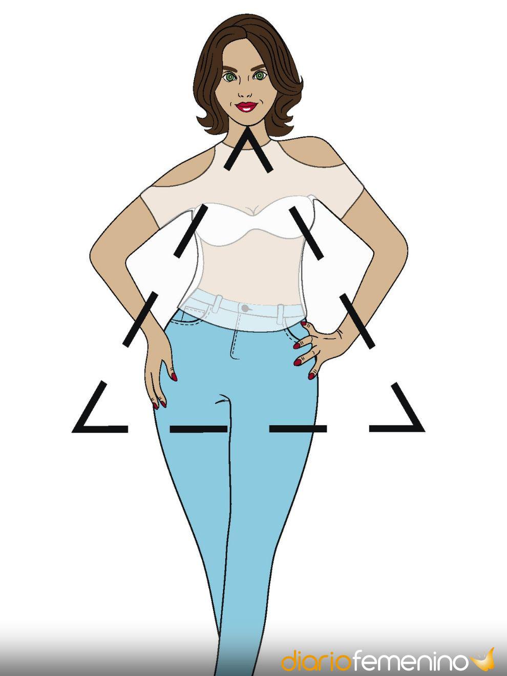 Qué pantalón te favorece más según tu tipo de cuerpo: Triángulo