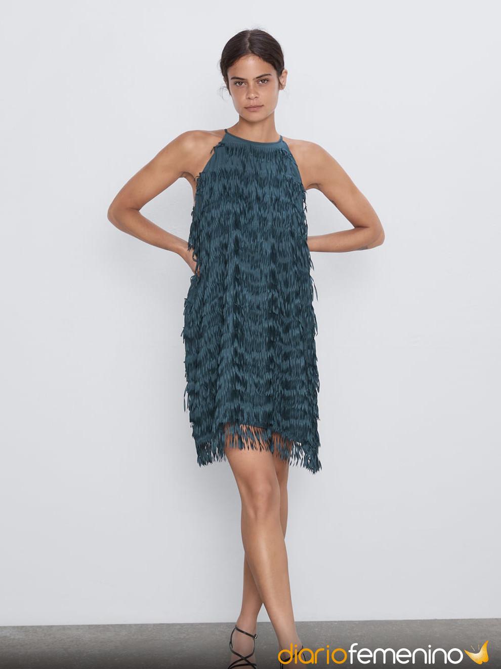 Divertido Vestido De Flecos De Zara Para Nochevieja 2019 2020