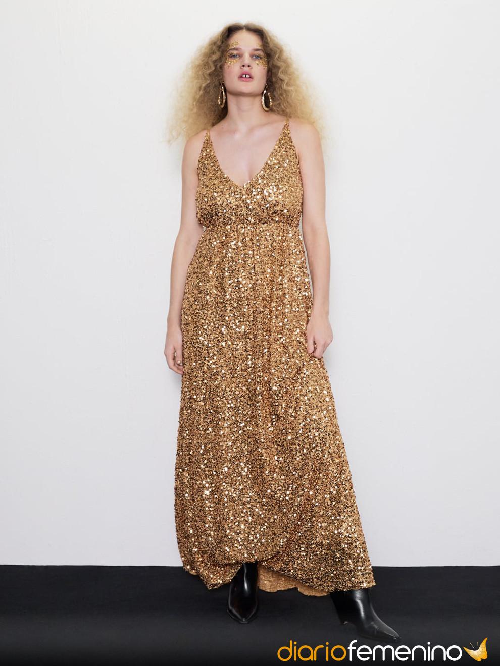 Metalizados De Vestidos Zara¡brillarás La Colección En