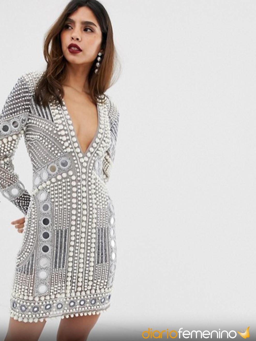 Espectacular vestido de perlas para Nochevieja: encuéntralo en ASOS
