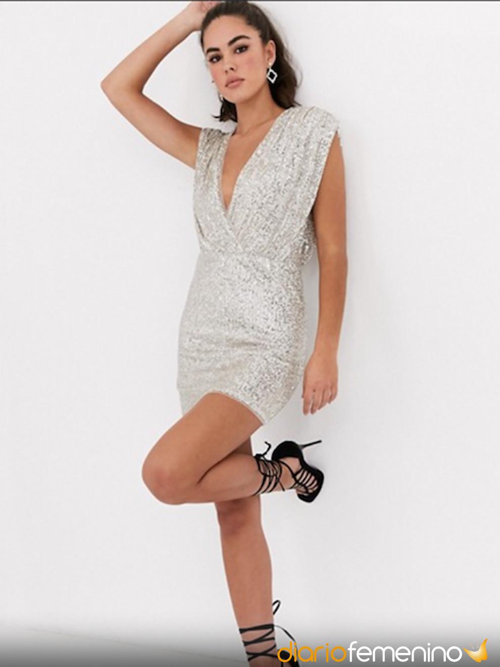 Vestido sencillo y elegante de ASOS para una Nochevieja glamourosa