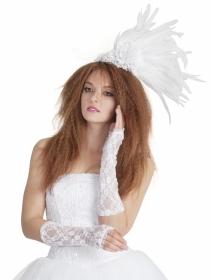 Vestidos de novia en la Pasarela Cibeles. Una novia triste de barrio