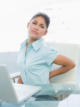Estar sentado y dolor de espalda