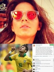 La novia de Neymar llora y habla de la grave lesión de la estrella del Mundial Brasil 2014