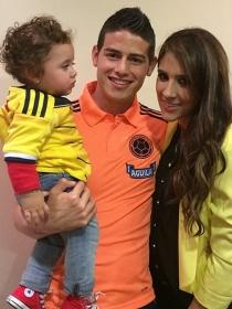 La hija de James Rodríguez y su esposa, Daniela Ospina, su mejor trofeo