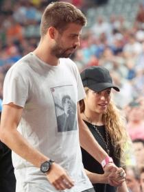 Shakira y Piqué, de lo más cariñosos en el Mundial de Baloncesto 2014