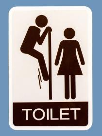 Señales graciosas en baños de mujeres y hombres: carteles para 'mearse' de risa