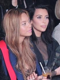 Kim Kardashian y Beyoncé apoyan la moda de Kanye West
