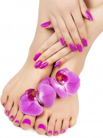 Uñas decoradas de los pies