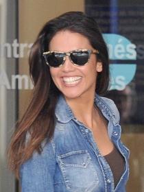 Lara Álvarez, apoyo y talismán de Fernando Alonso