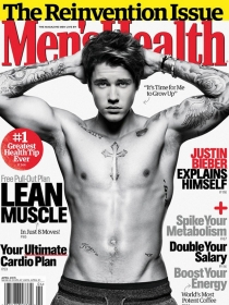 Justin Bieber presume de cuerpo en la revista Men's Health