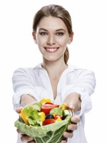 Tabla de alimentos después de una dieta