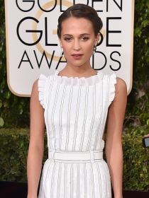 Globos de Oro 2016: Alicia Vikander y las mejor vestidas