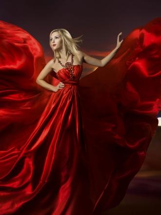 Sonar con tu mujer vestida de rojo