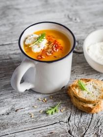 Sopa de calabaza y otros purés sencillos para el día a día