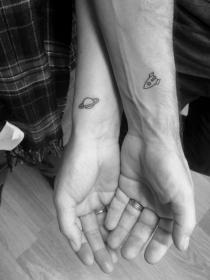 Ideas de tatuajes secretos en pareja