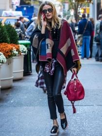 5 formas de llevar un poncho
