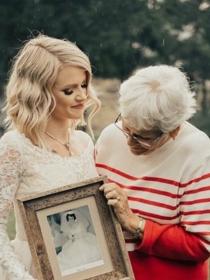 La emotiva sorpresa de una novia a su abuela: usa su vestido de boda