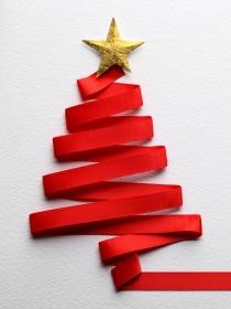 10 manualidades fáciles de árbol de Navidad