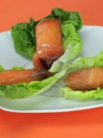 Recetas de aperitivos fáciles: rollitos de salmón y queso crema