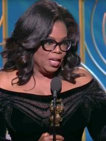 El poderoso discurso de Oprah Winfrey en los Globos de Oro 2018