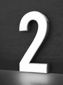 Cara y cruz al soñar con el número 2