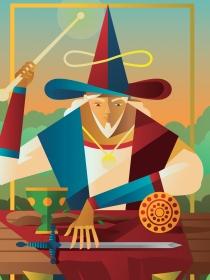 El significado de la carta del Mago en el tarot