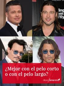 Brad Pitt, Johnny Depp, Beckham... ¿mejor con el pelo corto o largo?