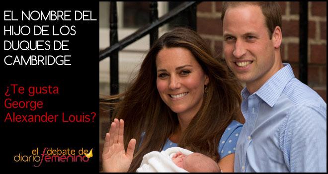 ¿Te gusta el nombre del hijo de Kate Middleton y el Príncipe Guillermo?