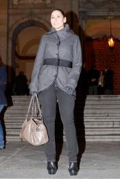 Rosa López, de Operación Triunfo, en el funeral de Manolo Escobar