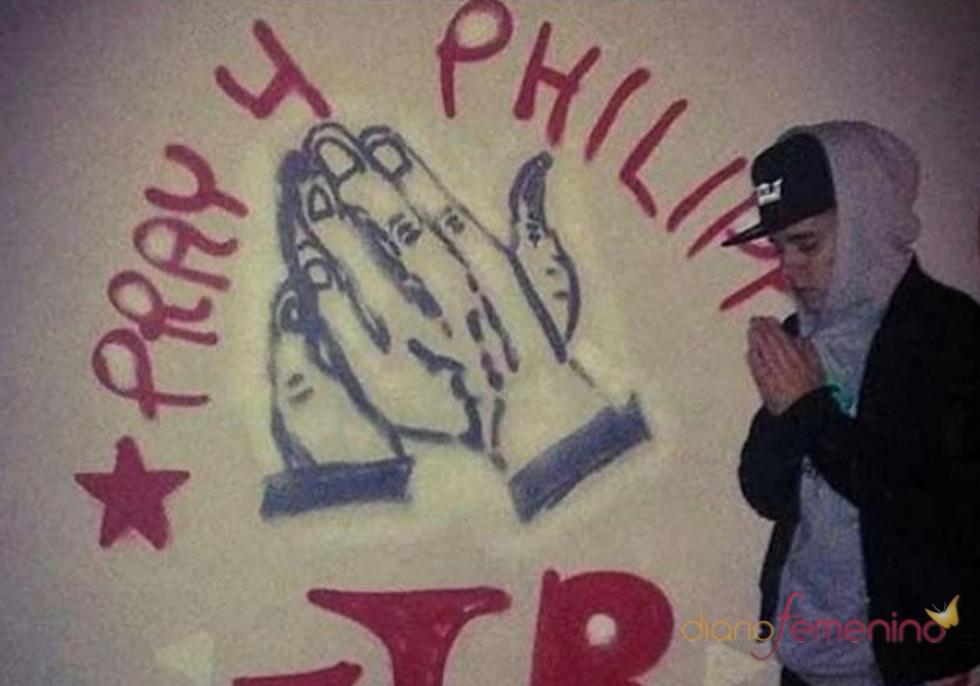 Justin Bieber hace un graffiti, pero esta vez, con fines solidarios