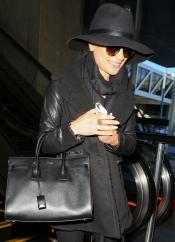 Lea Michele, de luto aunque sonriente